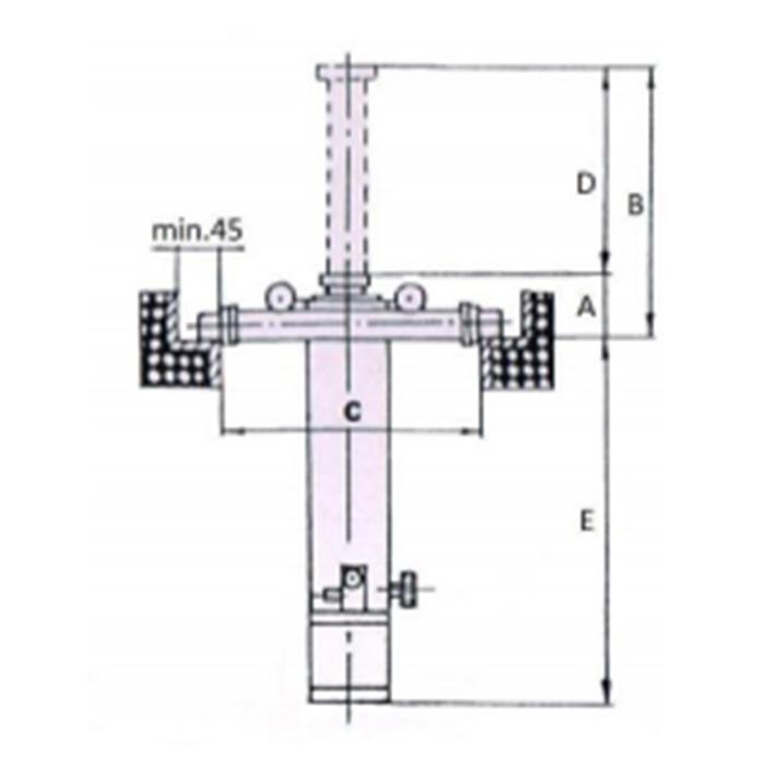 Skica pnevmatskega hidravličnega kanalnega dvigala